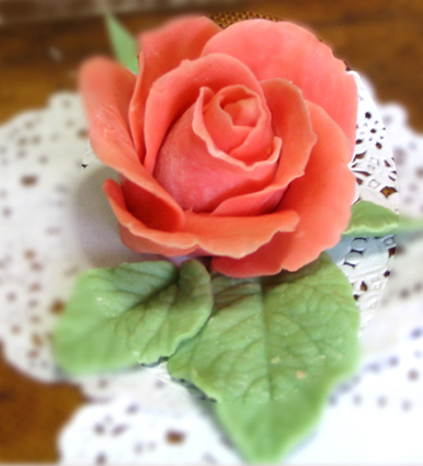 Recette de rose en pâte d'amande