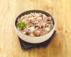 Recette risotto au jambon et champignons