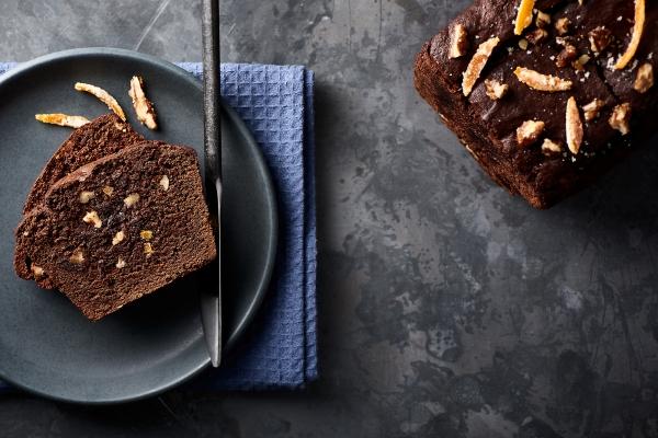 Recette de cake au chocolat, oranges confites et noix de pécan ...