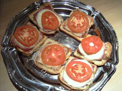 Recette de tartines jambon-fromage