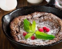 Recette fondant au chocolat à la poêle