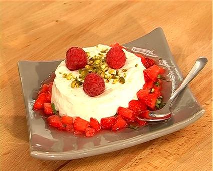 Recette de fontainebleau aux fruits rouges