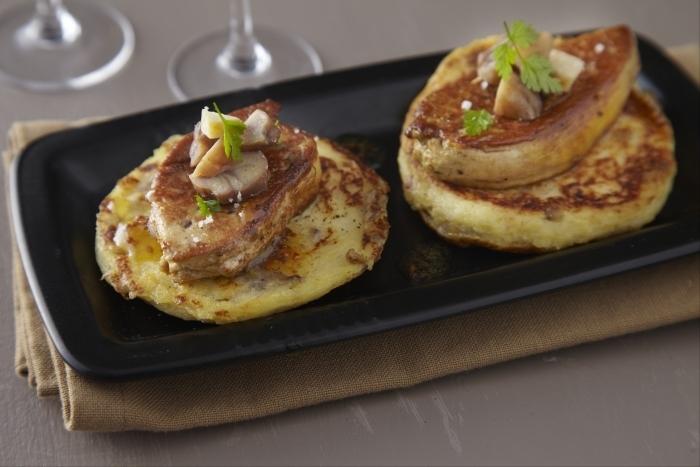 Recette de pancake de pommes de terre aux éclats de châtaignes ...