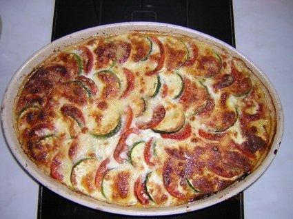Recette de clafoutis tomates, courgettes, mozzarella