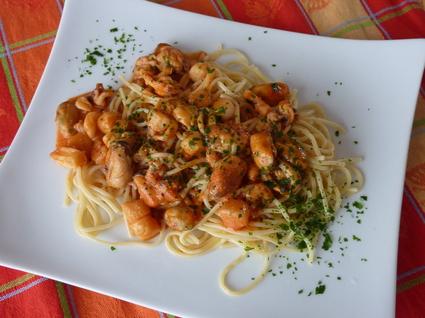 Recette de spaghetti aux fruits de mer