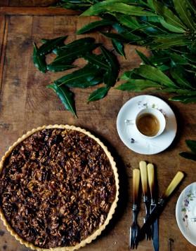 Tarte facile aux noix et miel pour 6 personnes