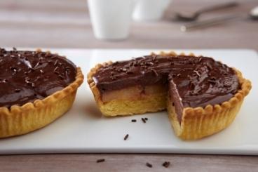 Recette de tartelette aux poires et crémeux chocolat facile et rapide