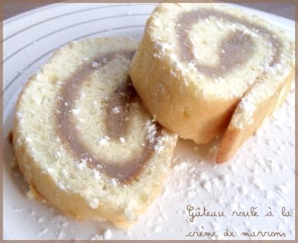 Recette de gâteau roulé à la crème de marrons