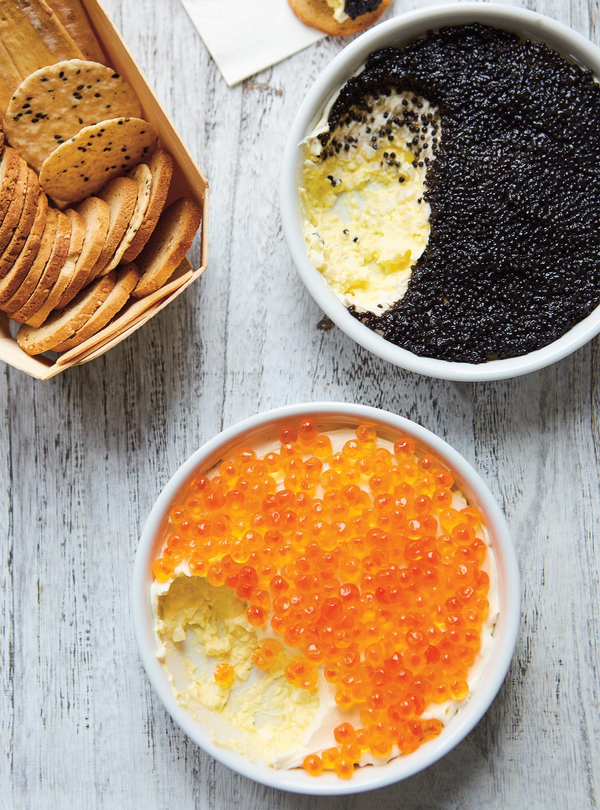 Tartinade d'œufs et caviar   ricardo
