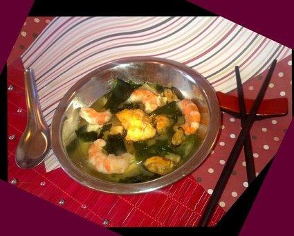 Recette de soupe miso royale de la mer