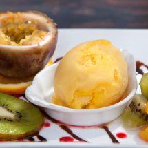 Sorbet aux kiwis et à la mangue