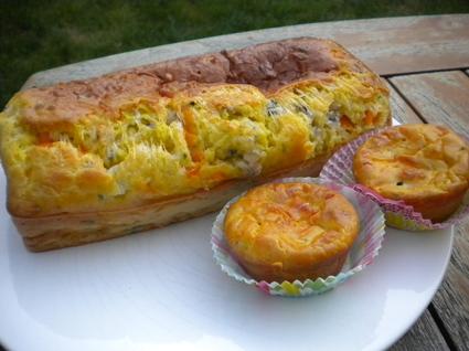 Recette de cake aux 3 fromages