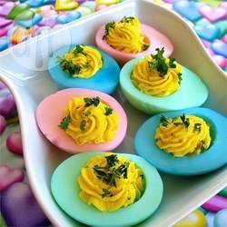 Recette œufs mimosas colorés pour pâques – toutes les recettes ...