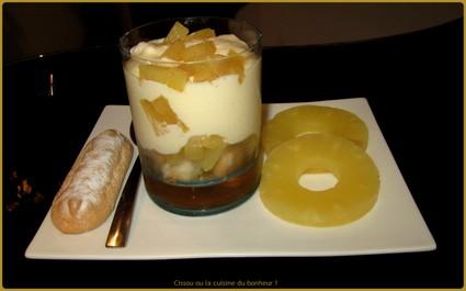 Recette tiramisu ananas (verrine dessert)