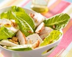 Recette salade caesar, crottin et poulet