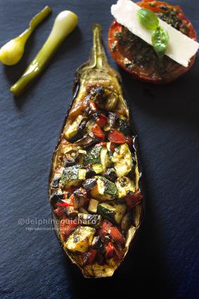 Recette aubergines farcies aux légumes