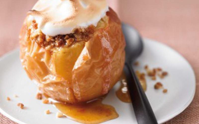 Recette pomme au four au praliné meringué pas chère et rapide ...
