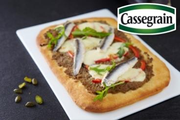 Recette de pizza aubergine cassegrain, mozzarella et poivron ...