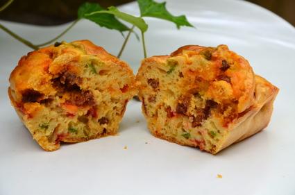 Recette de cake aux poivrons et chorizo