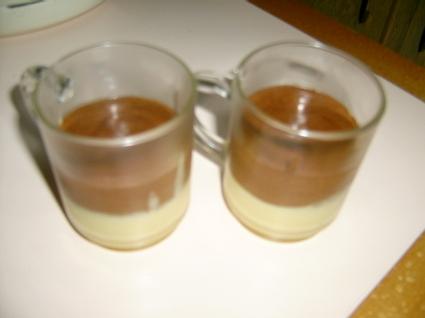 Recette de mousse aux 2 chocolats