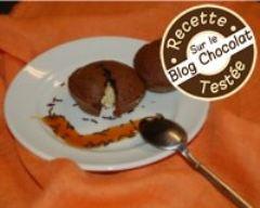 Recette petits soufflés au chocolat noir et blanc