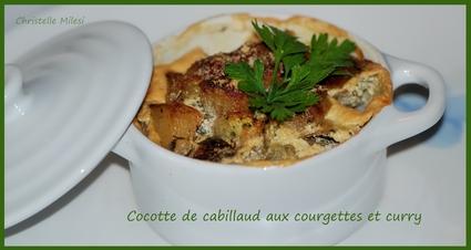 Recette de cocotte de cabillaud aux courgettes et curry