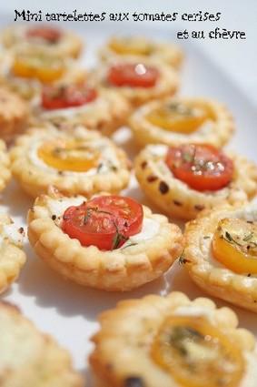 Recette de mini tartelettes aux tomates cerises et au chèvre
