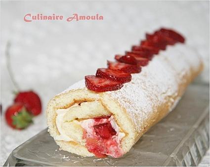 Recette de gâteau roulé aux fraises et mascarpone