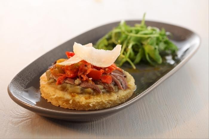 Recette de tarte sablée au parmesan, compotée d'aubergines ...