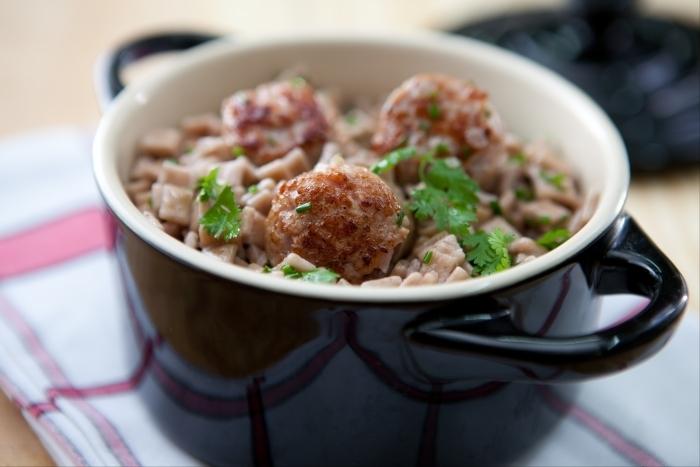 Recette de crozets façon risotto, diots grillés facile et rapide