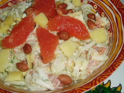Recette de salade d'endives et pomelos roses
