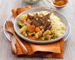 Recette poêlée de légumes, côtes d'agneau façon couscous