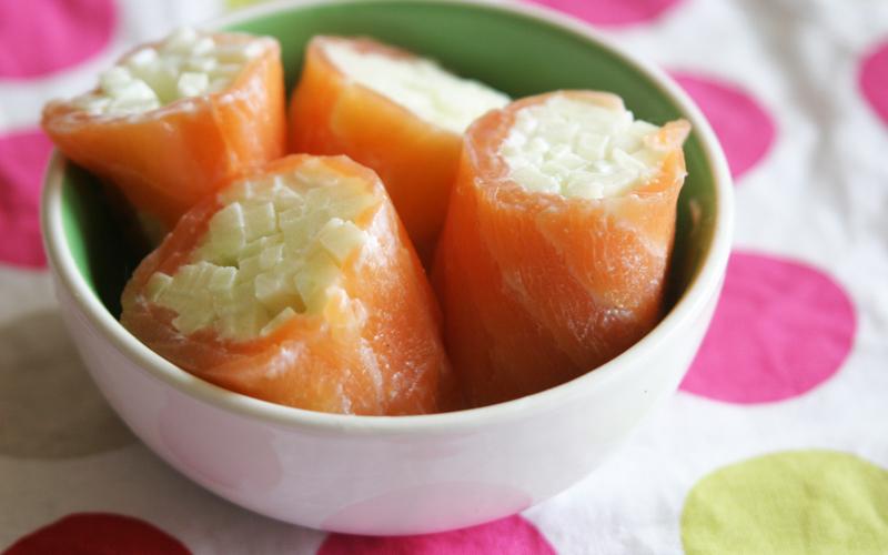 Recette roulés de saumon à la pomme pas chère et simple ...