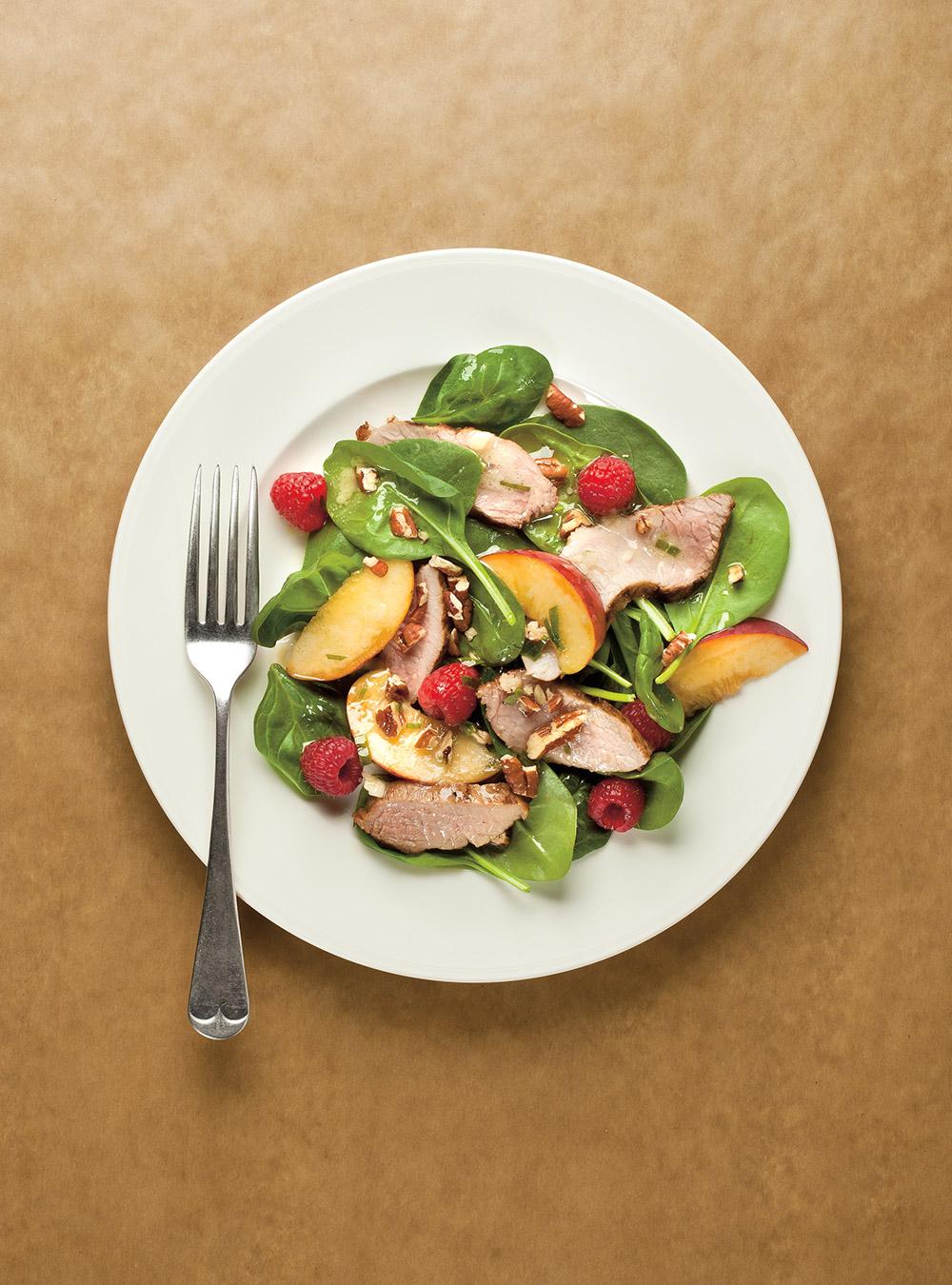 Salade californienne au porc   ricardo