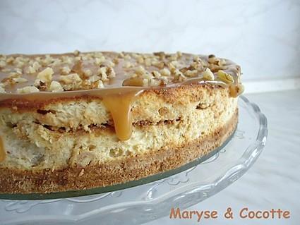 Recette de cheesecake banane au caramel beurre salé