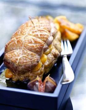 Rôti de magrets au foie gras et abricots pour 4 personnes