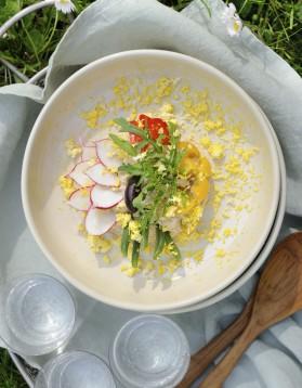 Salade niçoise par virginie basselot pour 4 personnes
