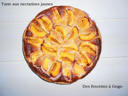 Recette tarte aux nectarines jaunes (tarte dessert)