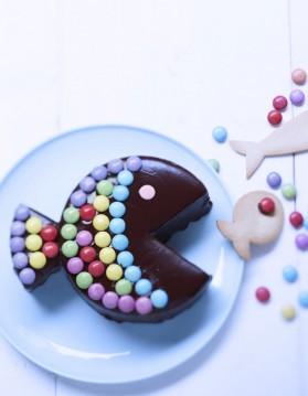 Gâteau poisson au chocolat et bonbons pour 8 personnes ...