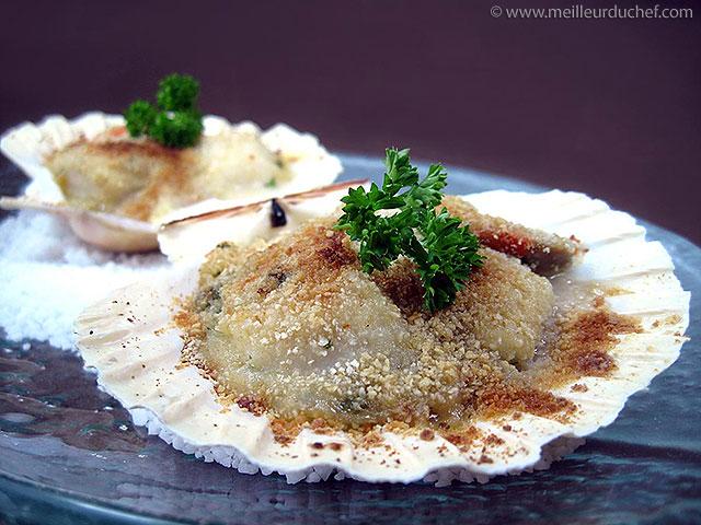 Coquilles saint-jacques à la bretonne  recette de cuisine avec ...