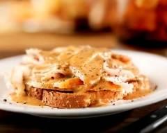 Recette tartines au poulet, moutarde et estragon