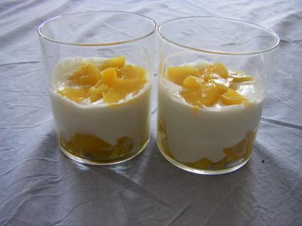 Recette de trifles de petits-suisses aux pêches