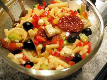 Recette de salade de pâtes à la grecque