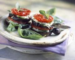 Recette millefeuilles d'aubergines et de tomates