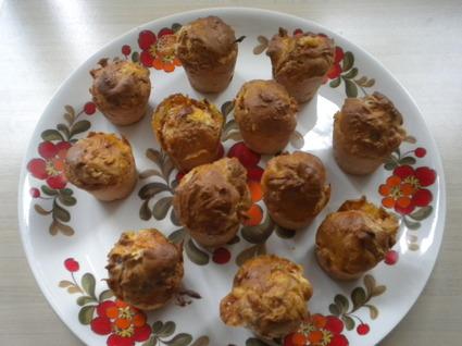 Recette de mini-cakes lardons et chèvre