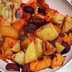 Recette pommes de terre, patates douces et betteraves grillées au ...