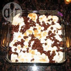 Recette gâteau moelleux aux chamallows et pépites de chocolat ...