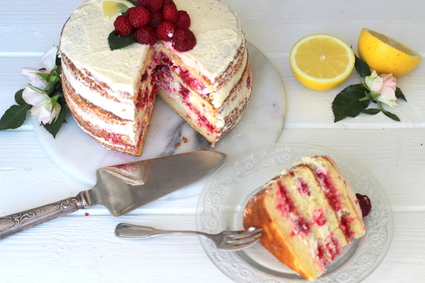 Recette de layer cake citron et framboise
