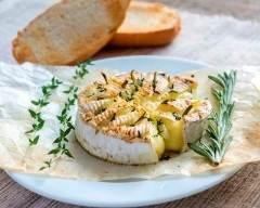 Recette fondue de camembert au miel et romarin