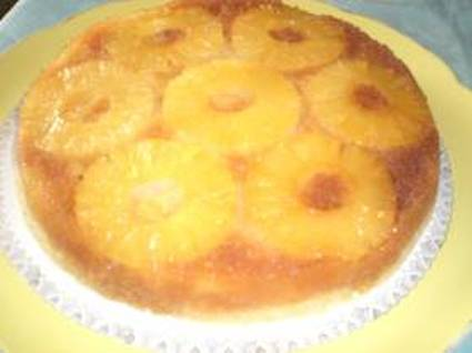Gâteau à l'ananas au caramel au micro ondes